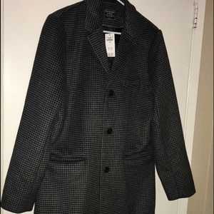 NWT* Abercrombie & Fitch wool blend Peacoat, sz L